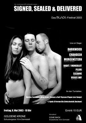black festival 2003 flyer