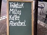 frühstück / mittag / kaffee / abendbrot