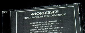 morrissey - ringleader of the tormentors