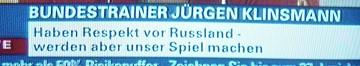 jürgen klinsmann / haben respekt vor russland