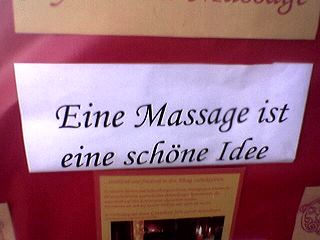 eine massage ist eine schöne idee