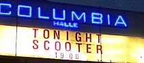 columbiahalle: scooter, tonight